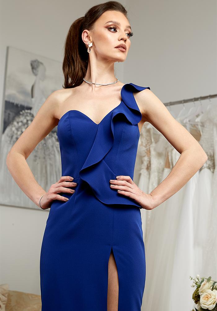 Rochie Eleganta de Seara Albastra - Atelier Rochii Elegante de Seara Bucuresti
