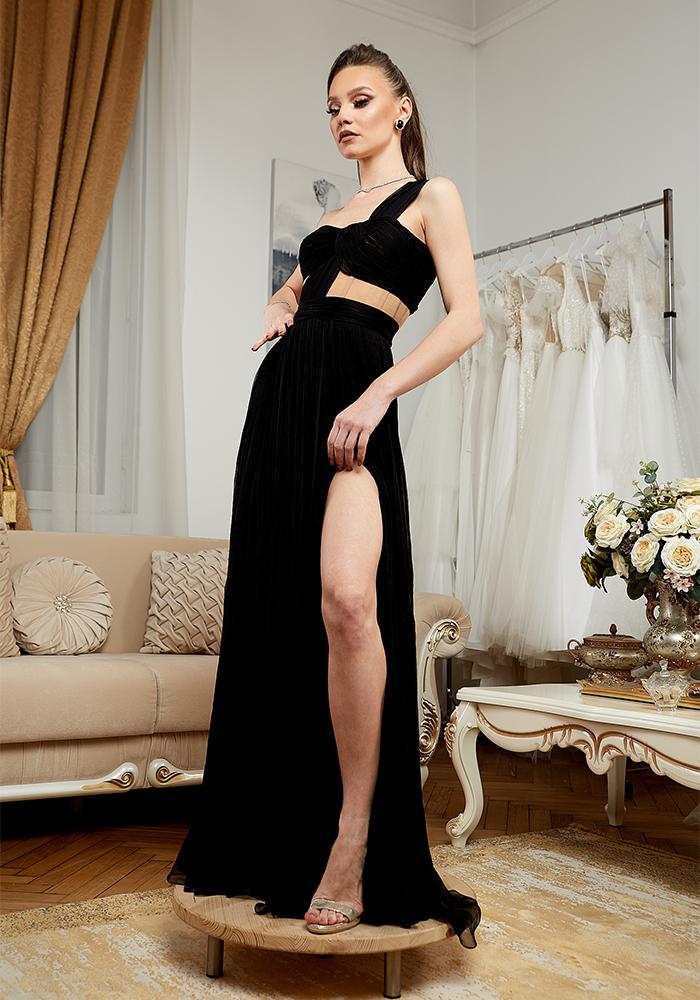 Rochie Eleganta de Seara Neagra - Atelier Rochii Elegante de Seara Bucuresti