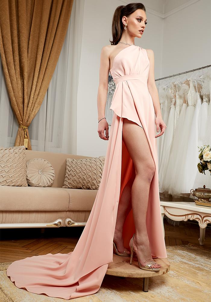 Rochie Eleganta de Seara Roz - Atelier Rochii Elegante de Seara Bucuresti